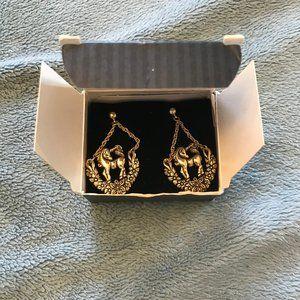 Magical Unicorn Gold-Tone Earrings
